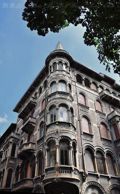liberty style building along corso Matteotti, Turin