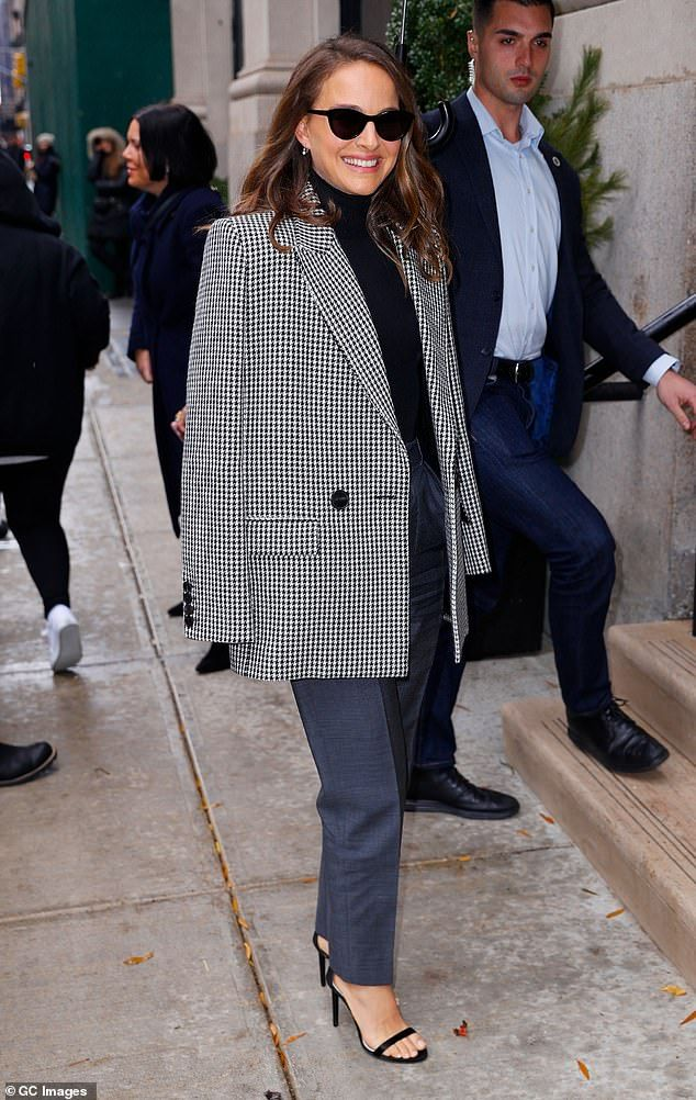 Natalie Portman looks like she raided husband's oversized