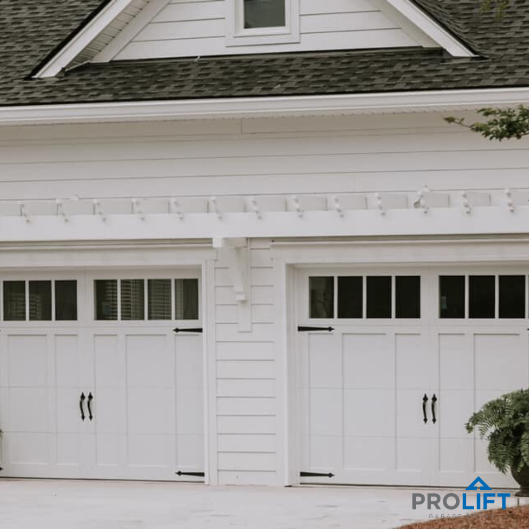 White Carriage House Garage Doors Houzz In 2020 Garage Door Styles Carriage House Doors Garage Doors