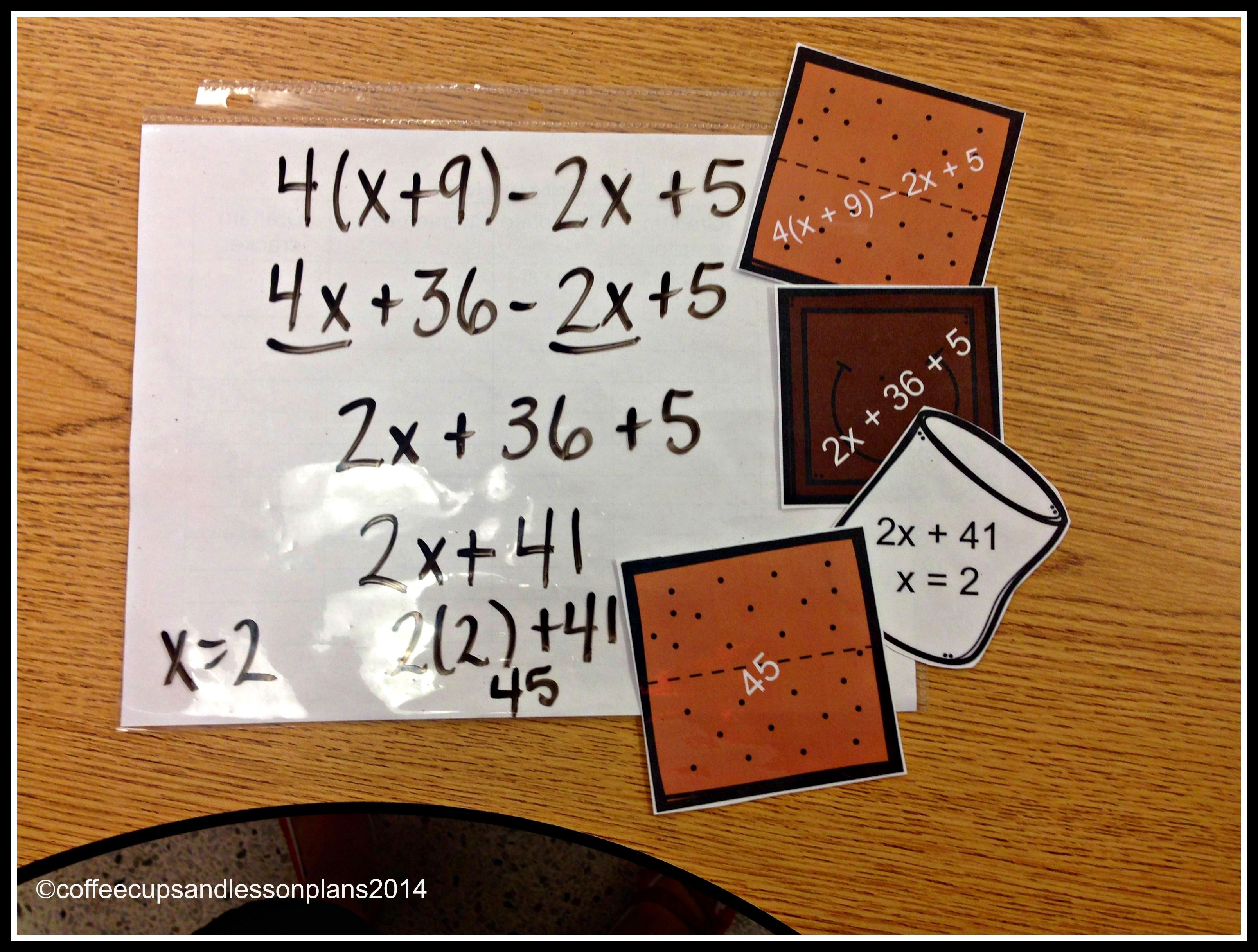 Combining Like Terms Great Practice With Distributive Property Combining Like Terms Like Terms Math Activities