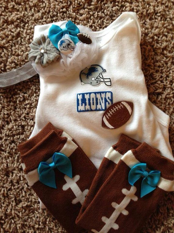 76298055 Detroit Lions 3 piece outfit by AngelKissBoutique on Etsy, $42.00 ...