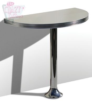 Wo12 tb103 mesa alta retro cocina media luna 106x60 cm - Mesa alta cocina ...