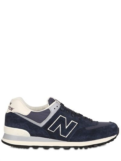 53a4d5abd7f NEW BALANCE - 574 LUXURY SUEDE AND RIPSTOP SNEAKERS - LUISAVIAROMA - LUXURY  SHOPPING WORLDWIDE SHIPPING