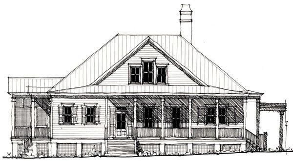 Historic Style House Plan with 3 Bed 3 Bath