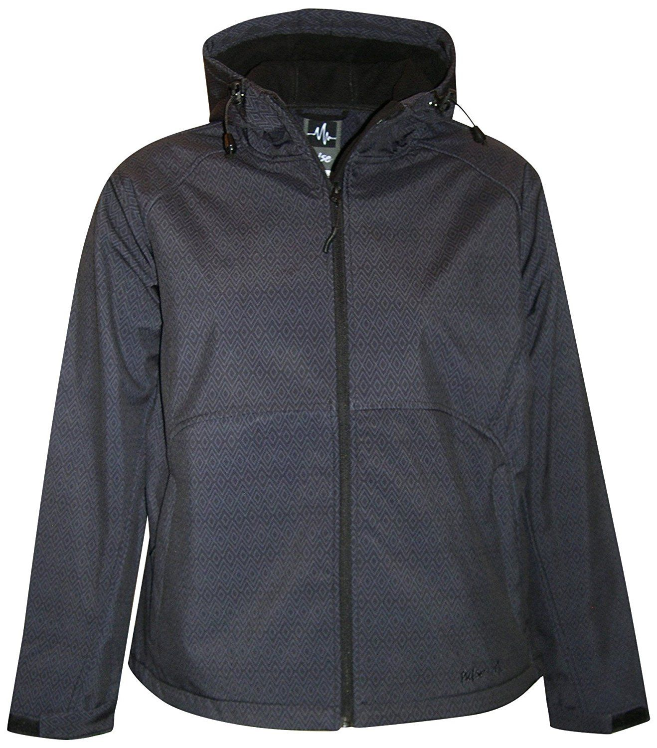 a5457ac5b0c61 Pulse Womens Extended Plus Size Soft Shell Hooded Jacket -- Special product  just for you