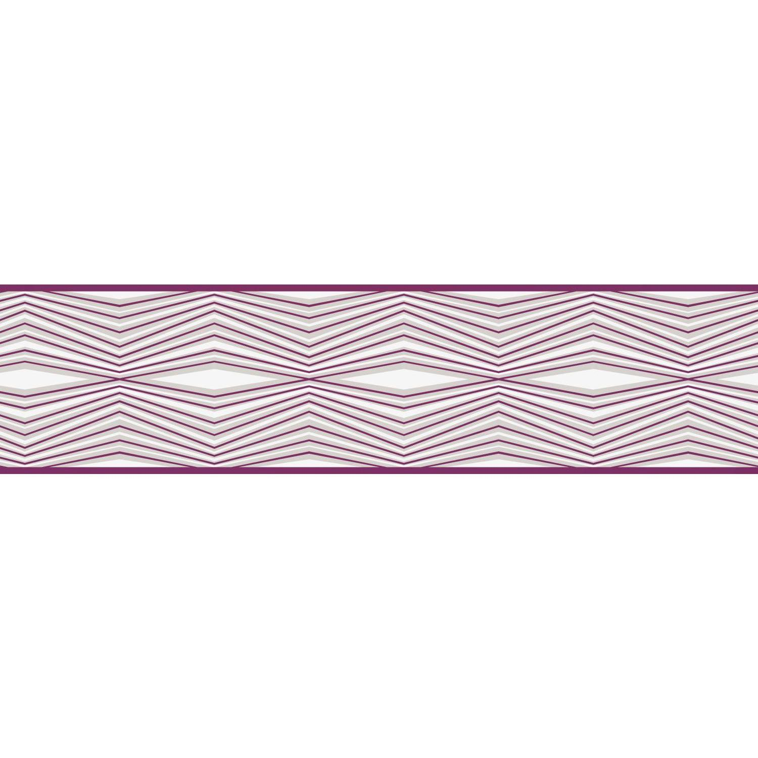 "Portfolio II Optical Illusion 15' x 6"" Geometric Border Wallpaper"