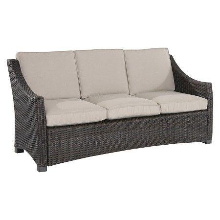 Belvedere Wicker Patio 3 Person Sofa Threshold Target