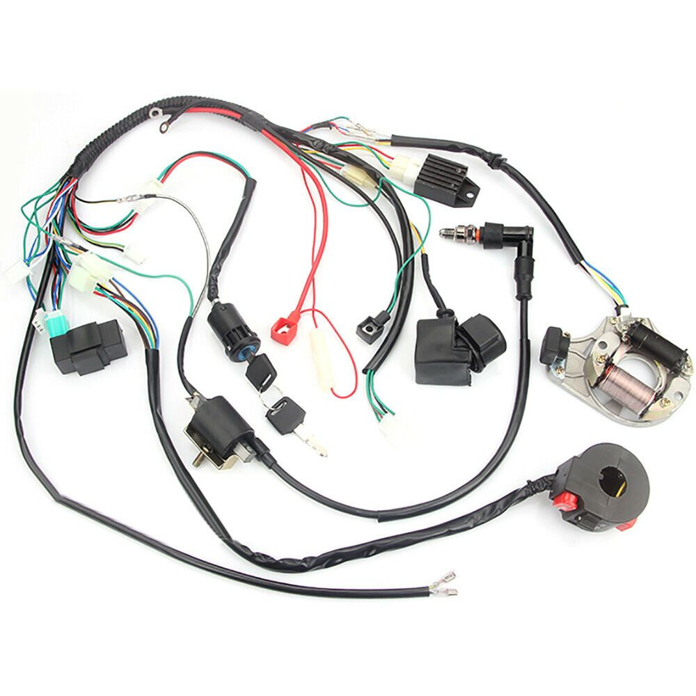ebay advertisement for 50 70 90 110 125cc atv complete wiring harness cdi stator ignition electric [ 1000 x 1000 Pixel ]