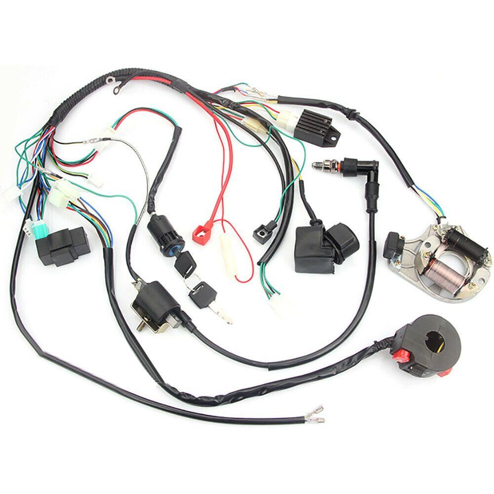 ebay advertisement) for 50 70 90 110 125cc atv complete wiring