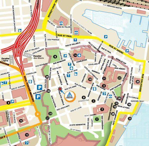 Quebec City Walking Map | ... Internationale de Québec Hi-Québec on