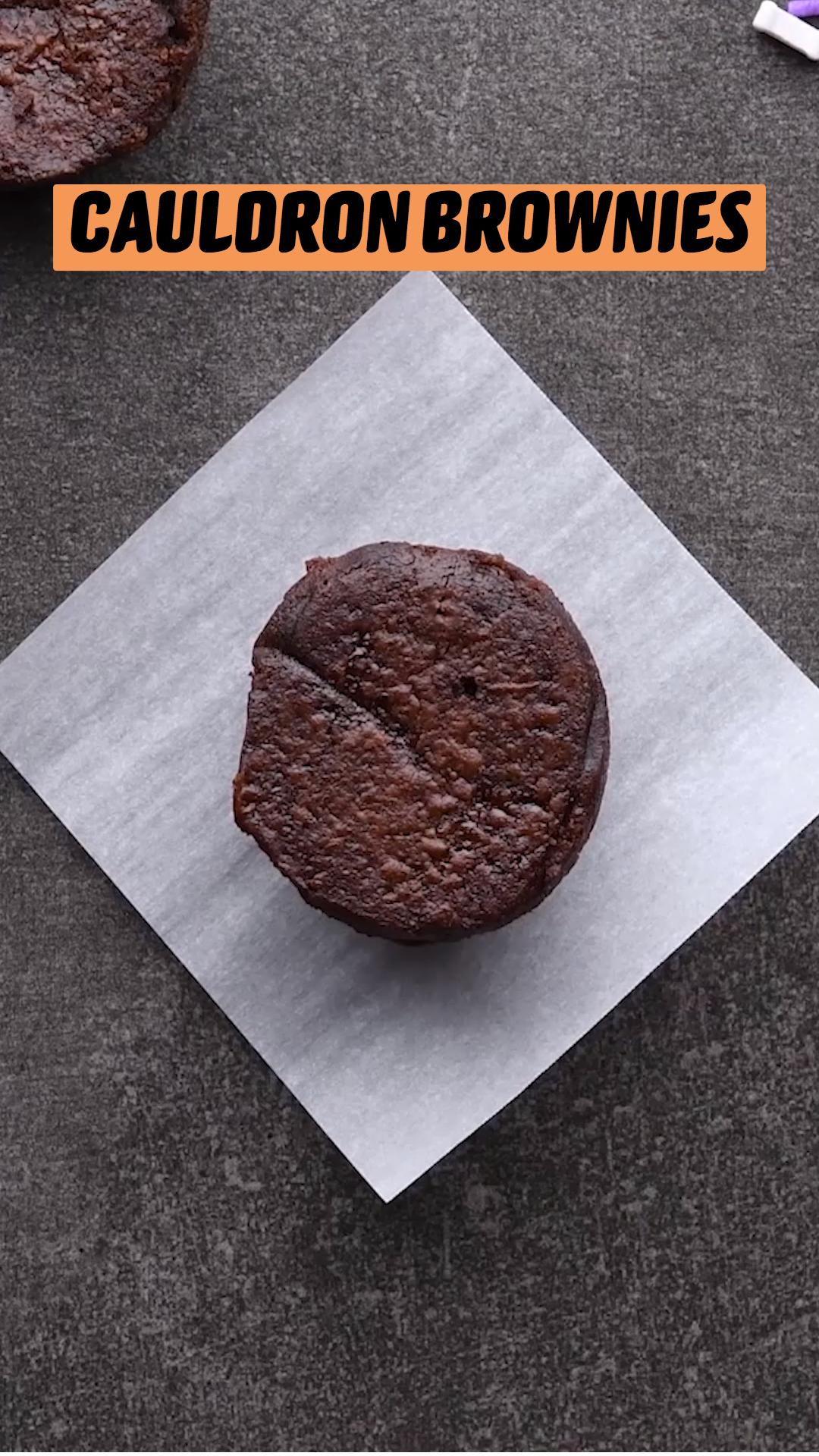 Cauldron Brownies & Crystal Ball Cookies