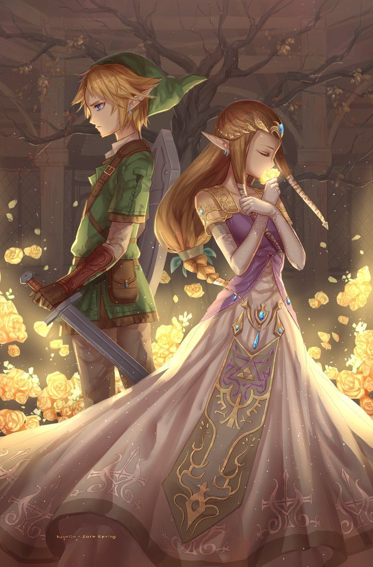 link and zelda by kyuriin legendofzelda gaming such lovely