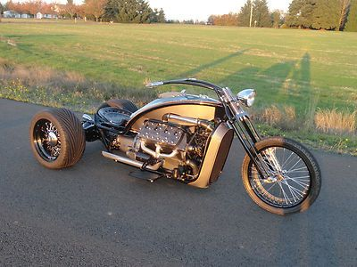 Custom Built Motorcycles : Other Ford Flathead V8 Trike Custom