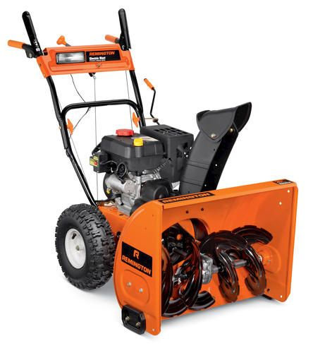 Menards Snow Blowers >> Remington 26 Two Stage Snow Thrower With Electric Start At Menards