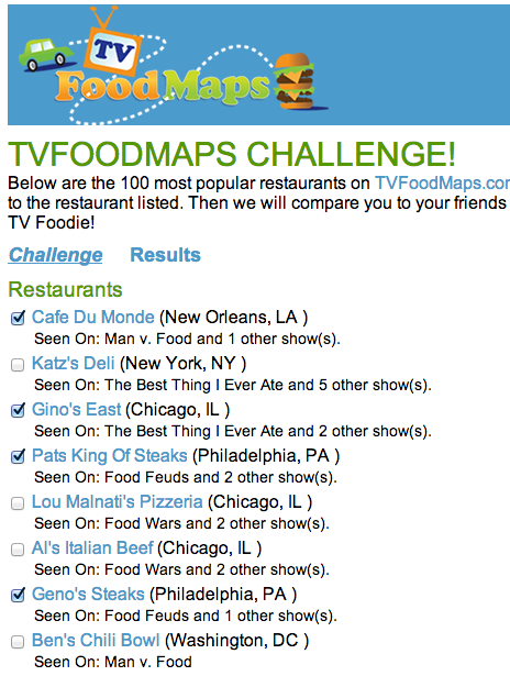 Food Network Map : network, TVFoodMaps, Challenge!, Food,, Network, Recipes