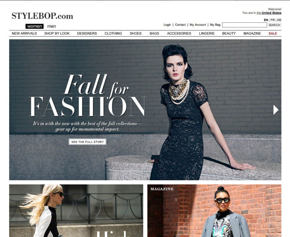 32e049f5d STYLEBOP Not only does this beautifully constructed website offer designer  buys for men and women