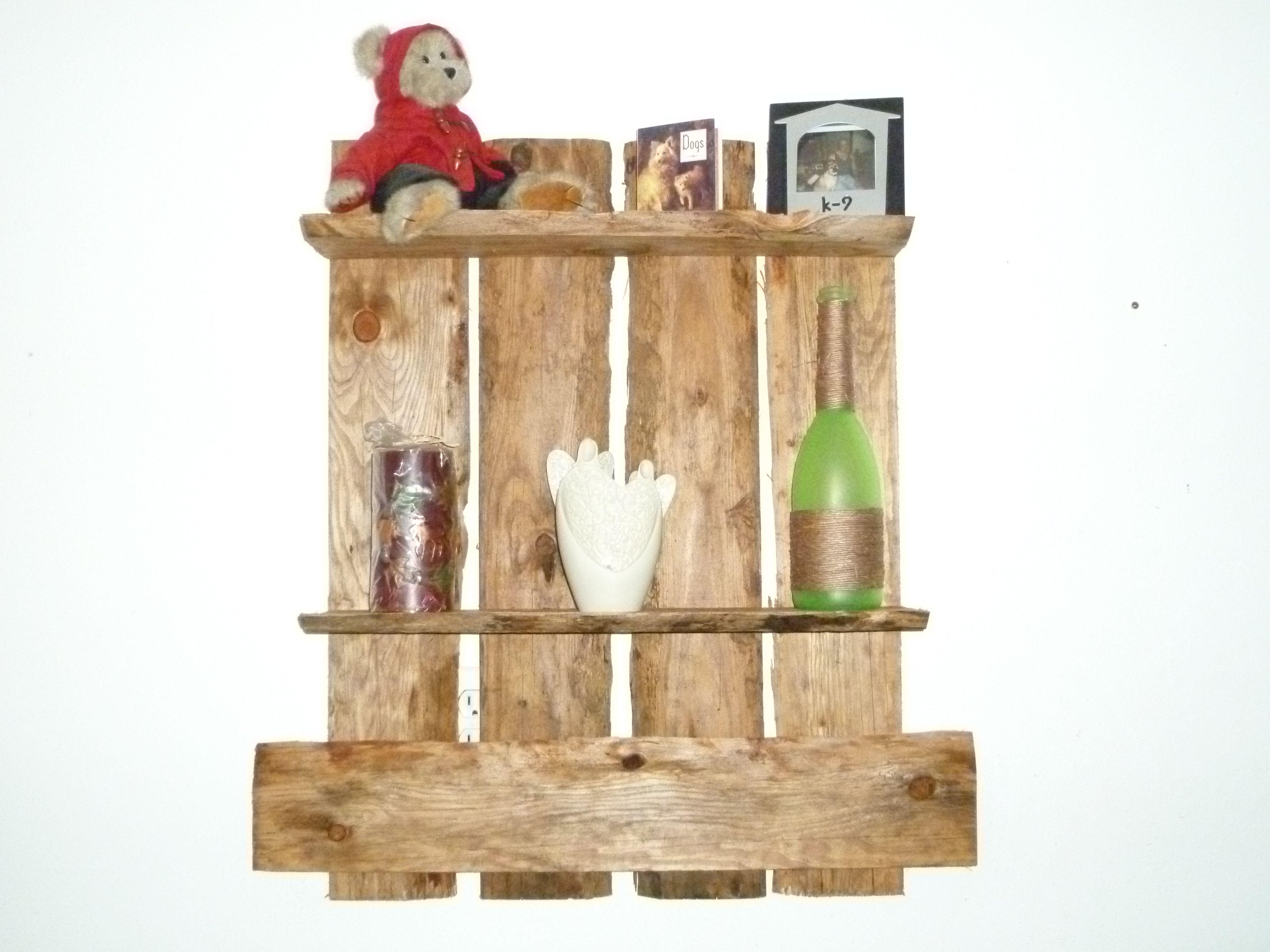 Diy reclaimed wood shelf wood shelves wood crafts