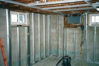 Framing With Metal Studs Metal Stud Framing Steel Frame House Framing Basement Walls