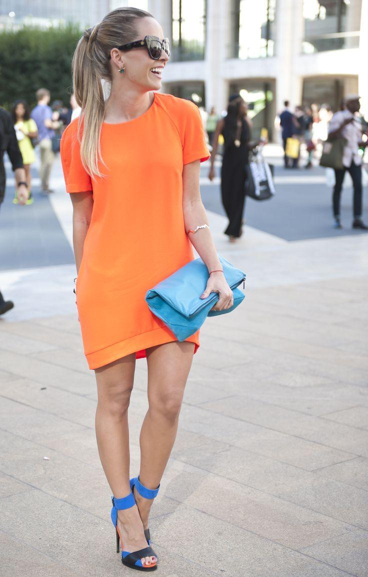 تي شيرت اللون الاورنج المميز Colorful Fashion Fashion Street Style Chic