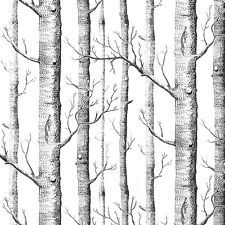 Textured Tree Forest Non Woven Wall Paper Background Wallpaper Roll Room Decor