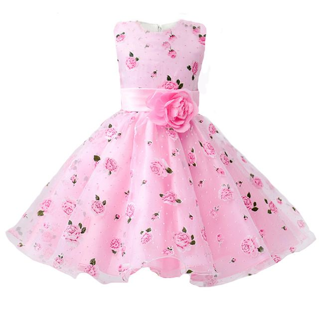 Check lastest price Girls Party Dress 2017 New Arrival Summer Flower ...