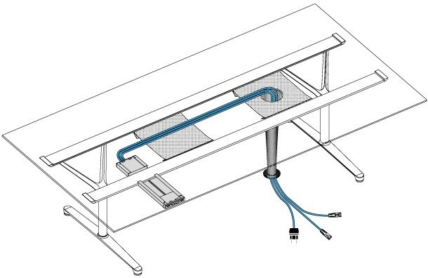 Image Result For Table With Cable Management