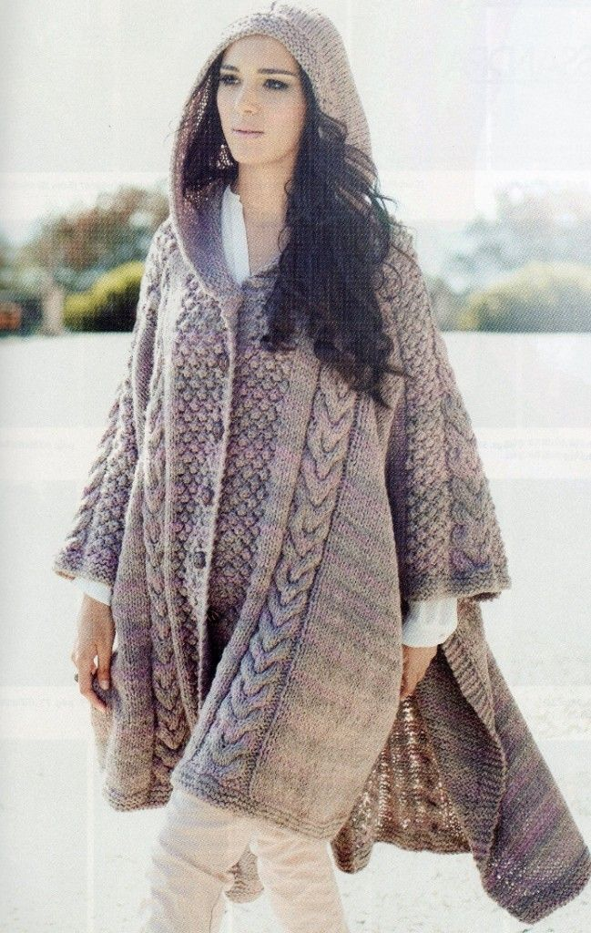 Abrigos tejidos de lana para mujer buscar con google - Puntos de agujas de lana ...