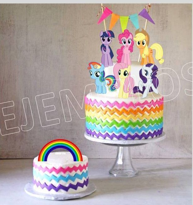 My Little Pony Cake Ideas Ponies Cake Printable Cake Toppers