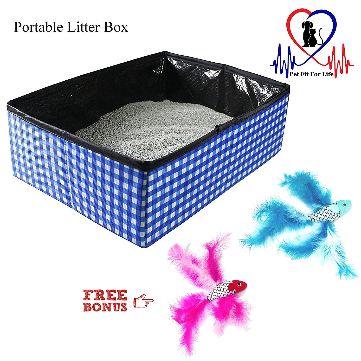 Pet Fit For Life Collapsible Portable Litter Box And Bonus Pet Fit For Life Cat Feather Toy You Can Find More Deta Dog Litter Box Litter Box Pets