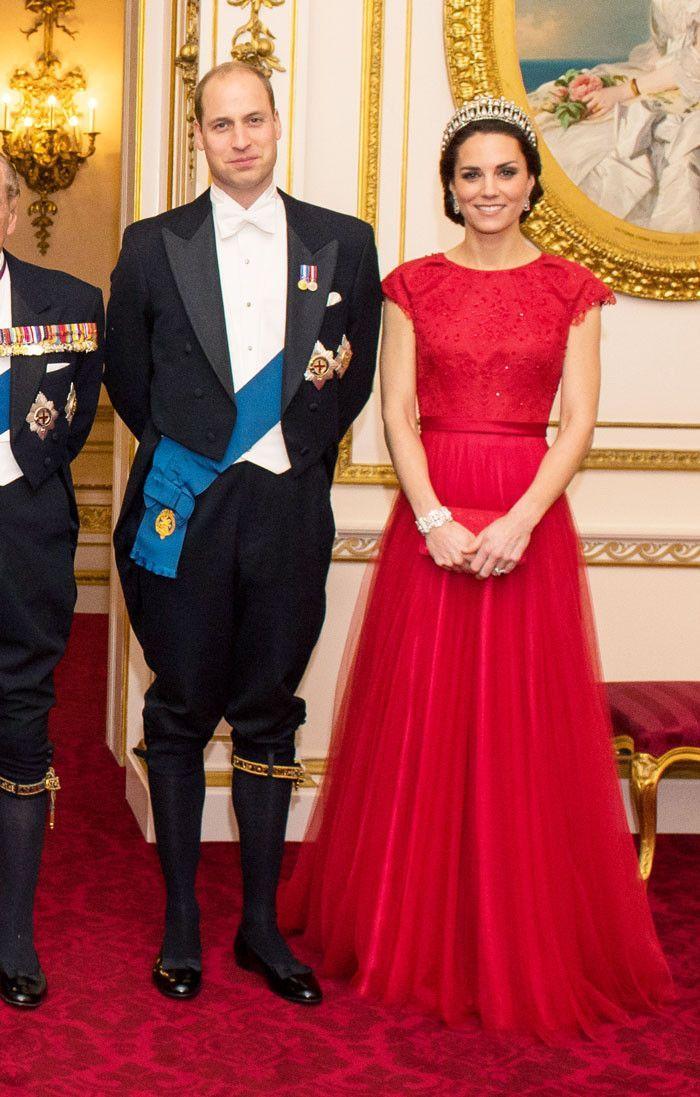 Kate Middleton Wore Princess Diana's Tiara With a Fairy-Tale Dress via @WhoWhatWearUK