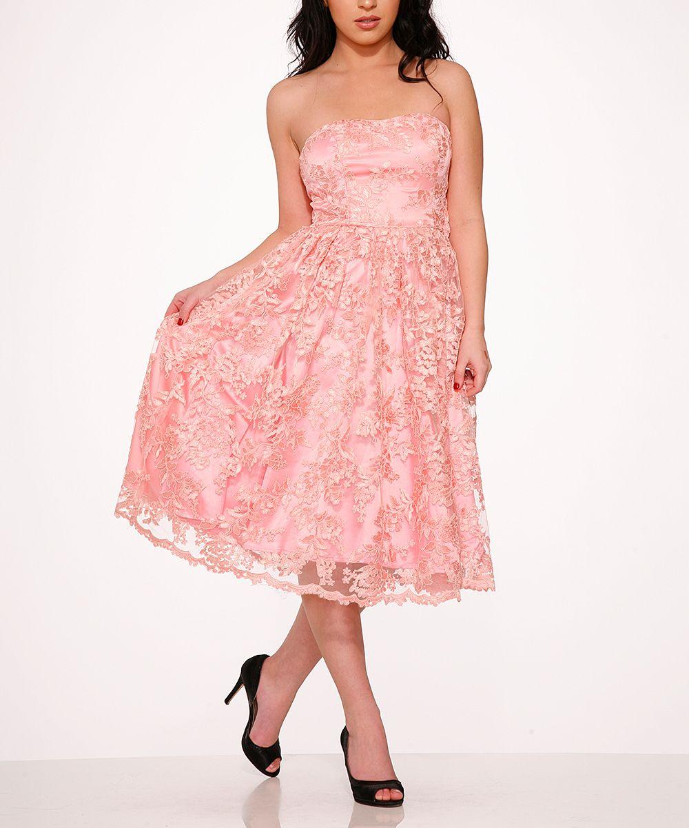 Pink Chantilly Lace Dress - Plus Too | A Pink Wedding II | Pinterest