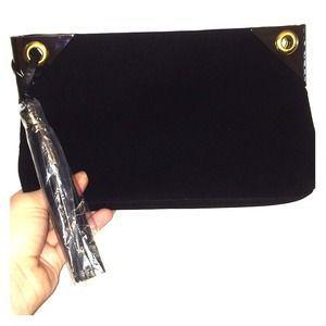 Boutique Handbags - Little Black Clutch Purse Handbag Magnetic Closure