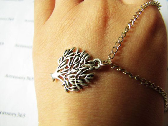 ancient vintage style silvery tree pandent women by braceletcool, $5.00