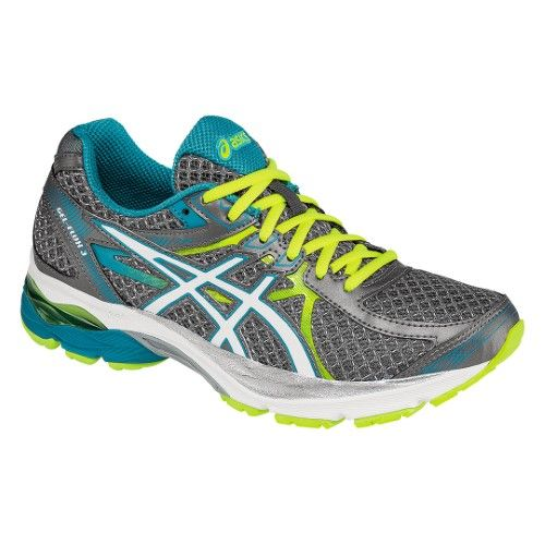 Asics Women\u0027s GEL-Flux 3 Running Shoes T664N, Silver/White/Enamel Blue