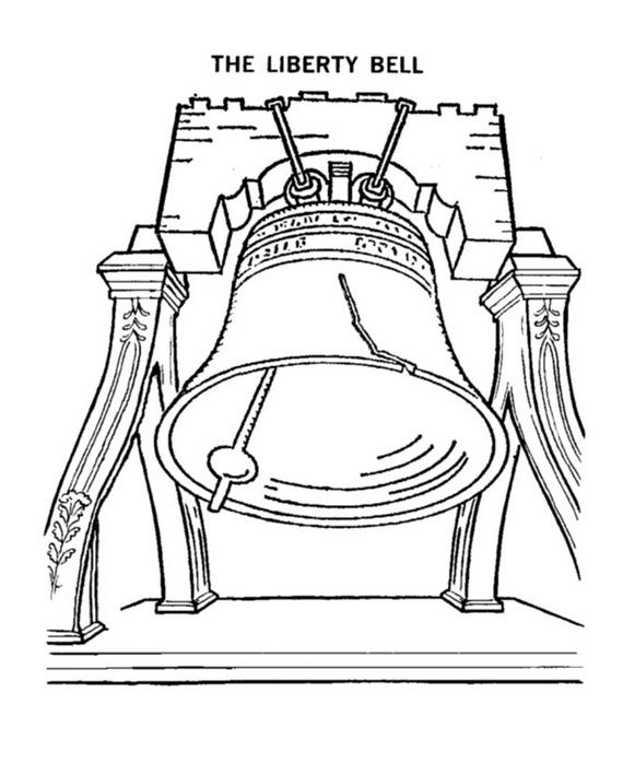 Independence Day Coloring Pages July Fourth Patriotic Symbols