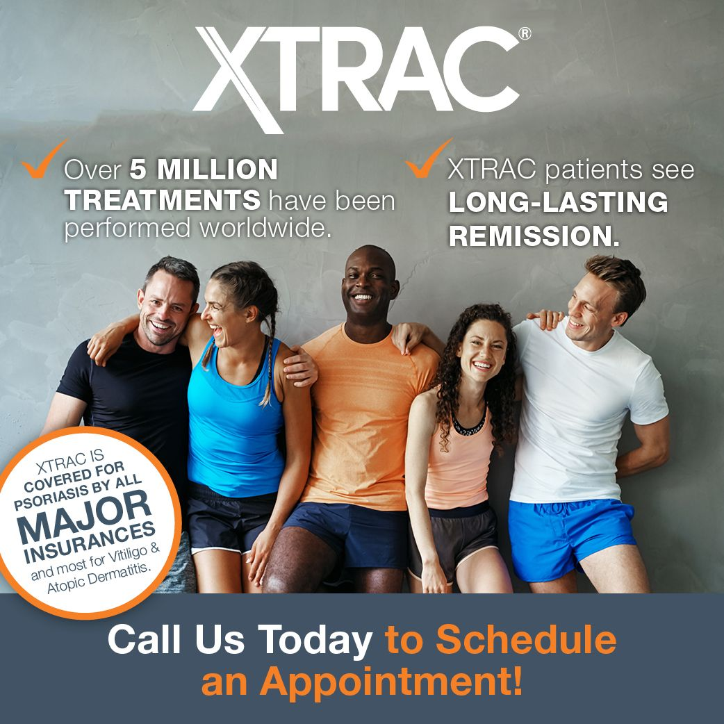 Xtrac Patients See Long Lasting Remission Call Us Today For An Appointment Dermatology Skincare Psoriasis Vitiligo In 2020 Atopic Dermatitis Vitiligo Psoriasis