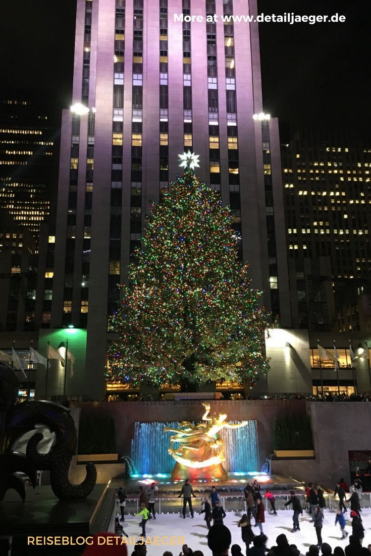 Christmas Tree Lighting in NYC - Reiseblog detailjaeger ...