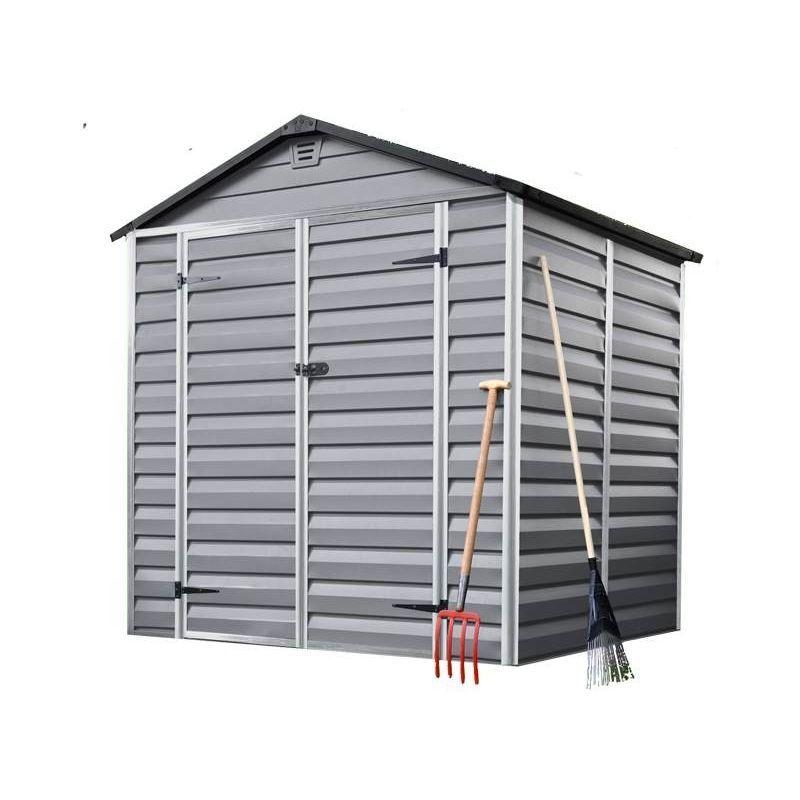 Madeira Abri De Jardin En Polycarbonate Sur Cadre Aluminium Pvc Resine Gris 2 83 M Cabane Remise De Jardin Rangement Velos Rangement De In 2020 Skylight Shed Home Decor