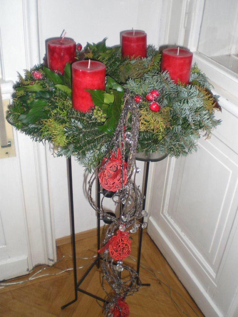 Adventkranz 2011 Dekorationsideen Weihnachten