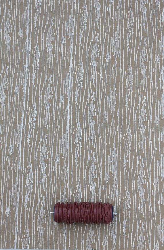 Patterned Paint Roller In Wood Grain Design From By Notwallpaper