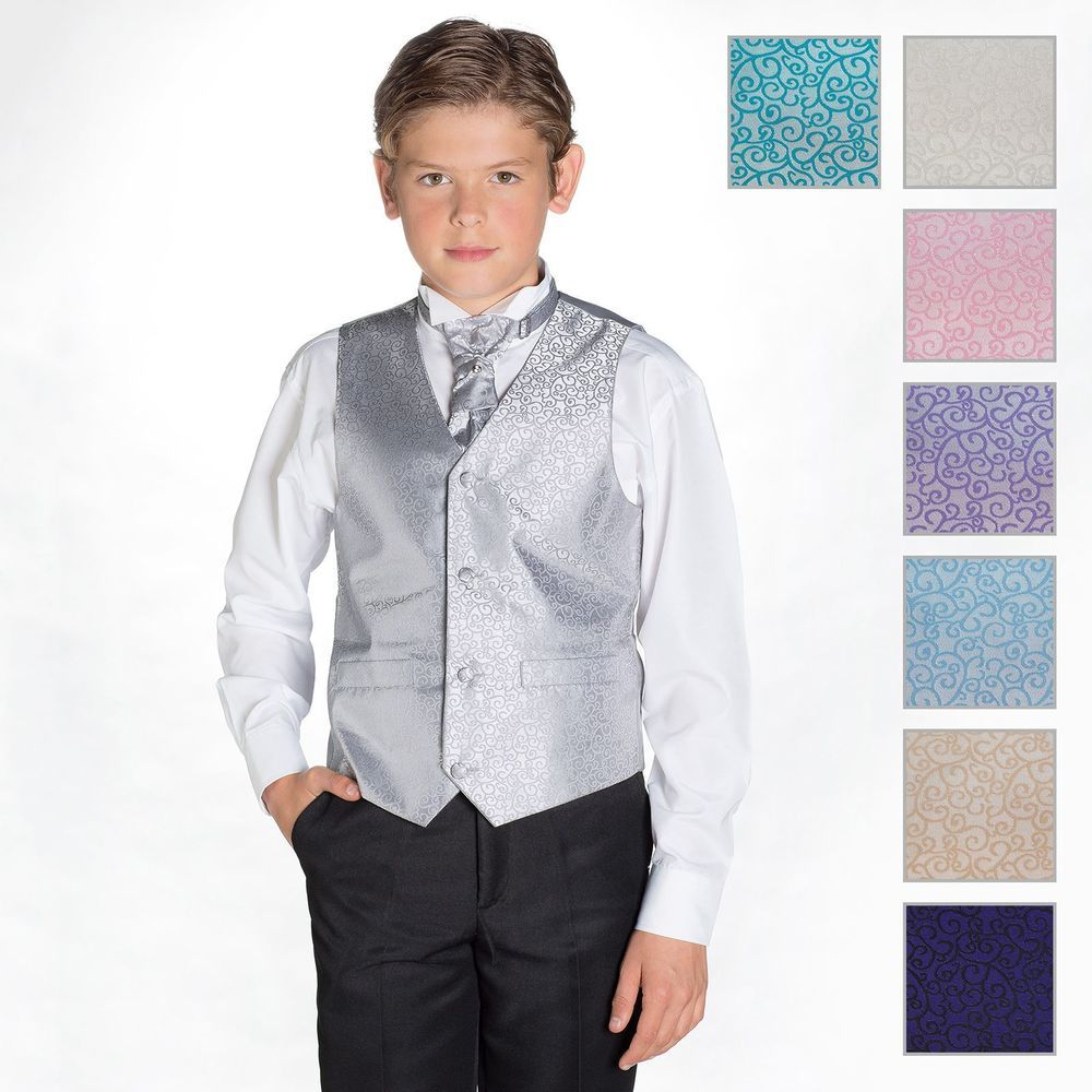 Boys Swirl Waistcoat and Cravat Suit Set With Black Trousers, Page ...
