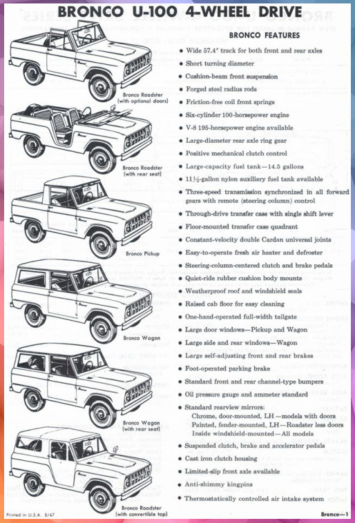 1968 Ford Bronco Ik Ben Dol Op Het Lezen Van Deze Vintage Advertentie Dingen Advertentie Advertentiedingen Ben Bronco D Ford Bronco Motorrad Fahren Ford