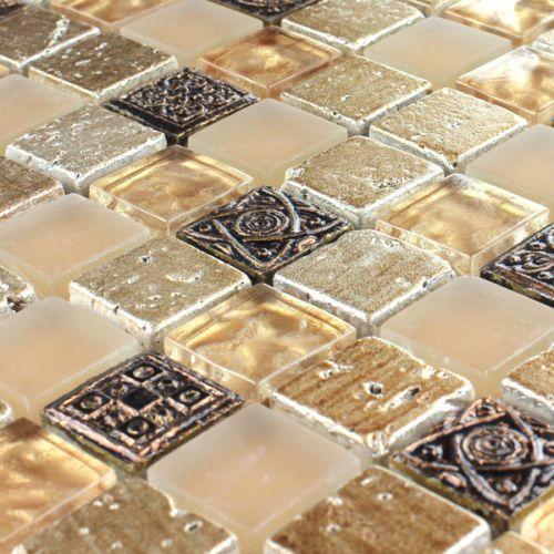 mosaiksteine glas marmor naturstein fliesen beige mix mosaiksteine in 2019 pinterest. Black Bedroom Furniture Sets. Home Design Ideas