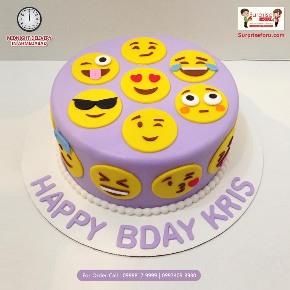 Express Your Feelings Through Emoji Cake Emoji Cake Emoji Birthday Cake Birthday Cake Kids