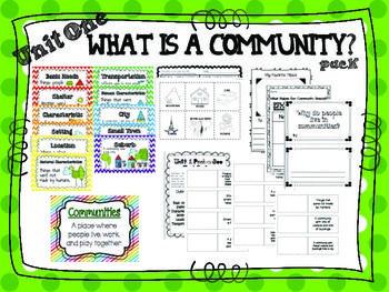 2nd Grade What's a Community? (Social Studies) | Social ...