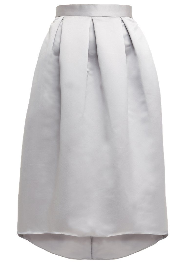 11216391ee Closet Spódnica plisowana wiceczorowa midi gładka szara grey ...