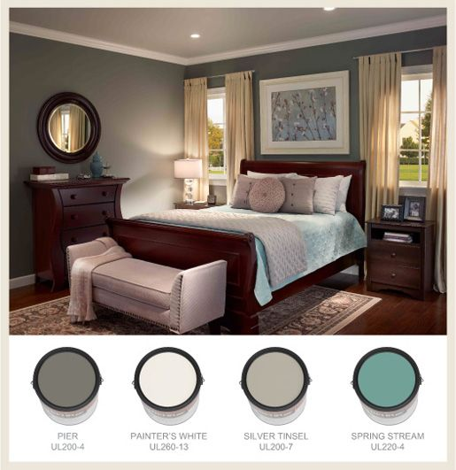 Bedroom Paint Ideas Behr behr colors i like both pier and silver tinsel | painting ideas