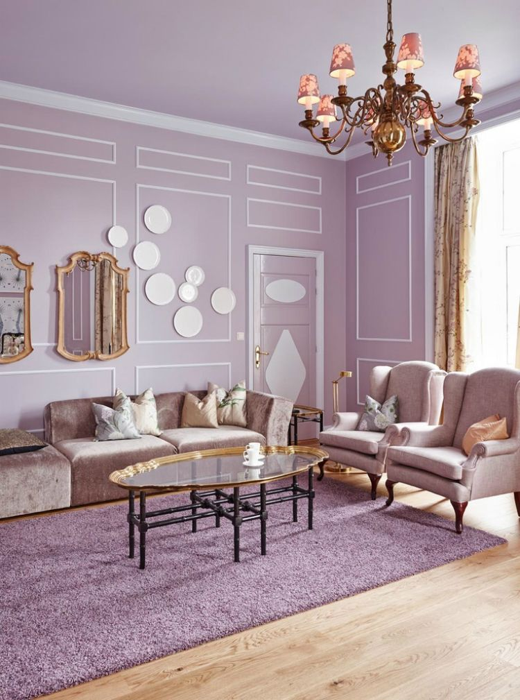 Romantic Style Living Rooms: Romantic Or Modern? Lilac In Contemporary Interior Design