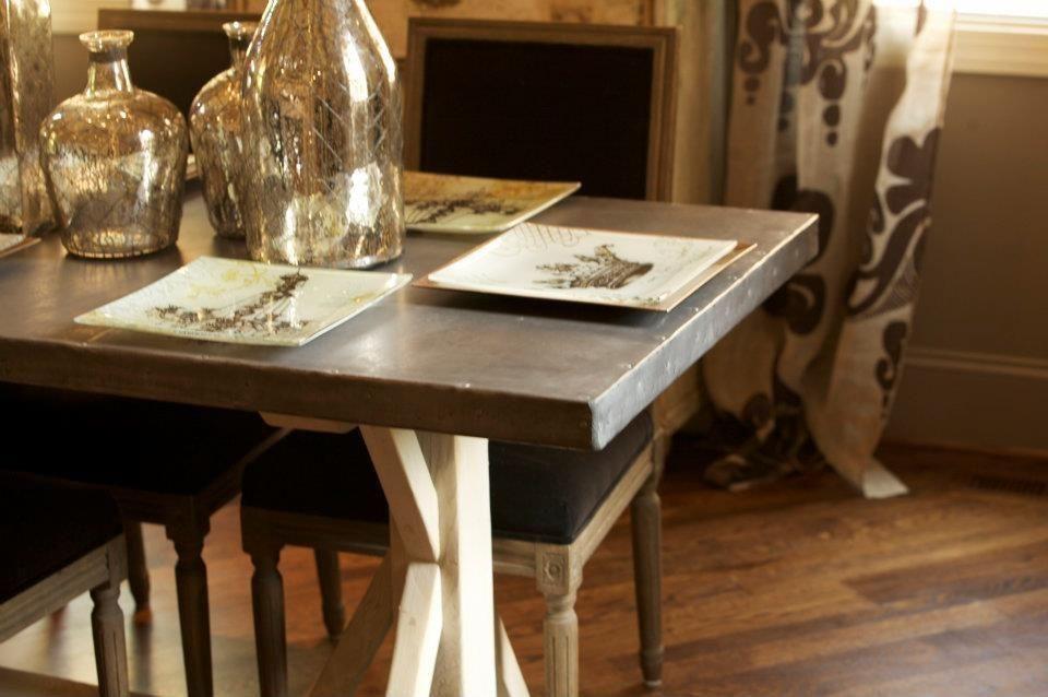 12 Farmhouse U0026 Company: Fabulous, Reclaimed Furniture Zinc Covered Table
