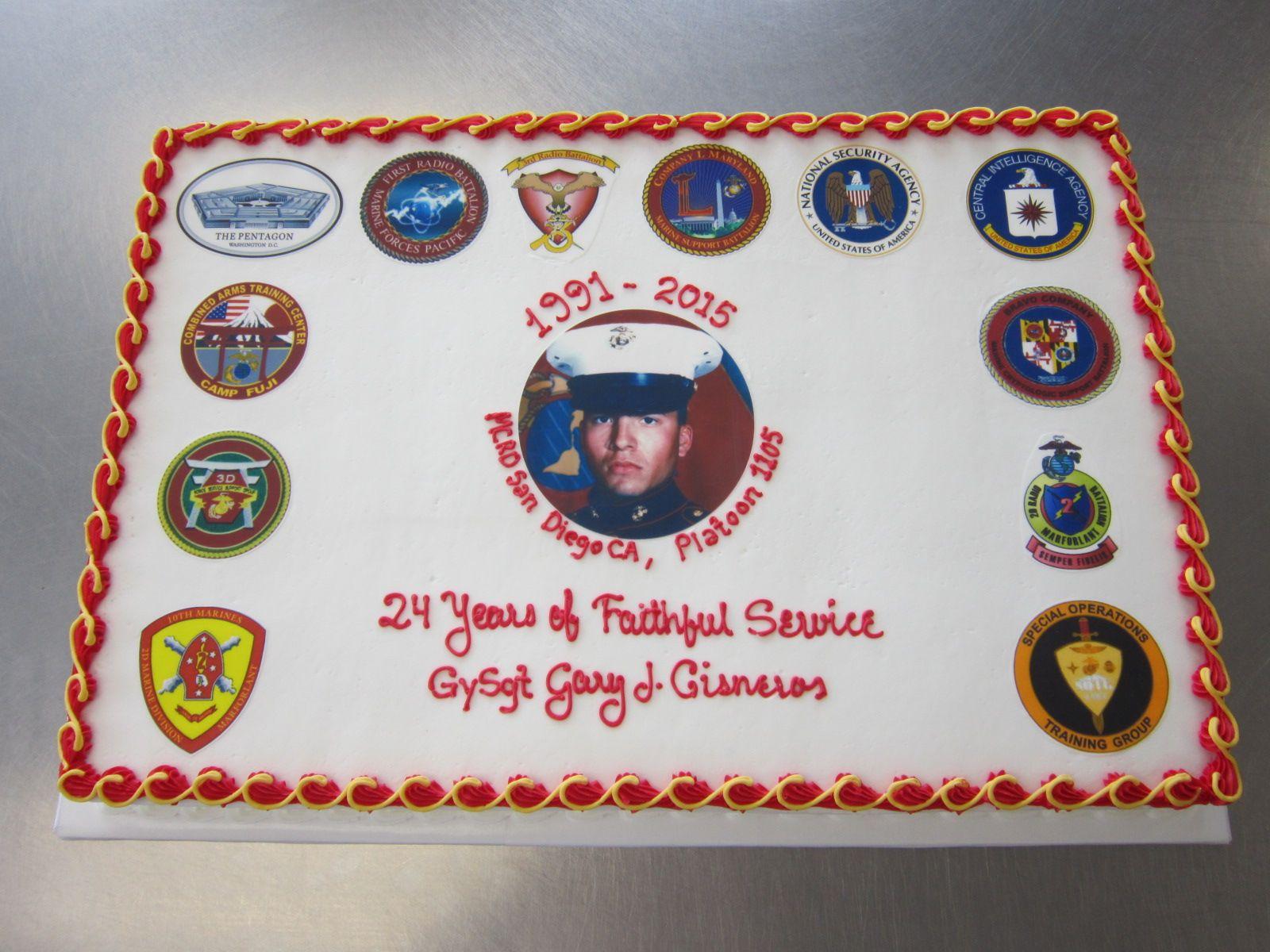 USMC retirement cake by